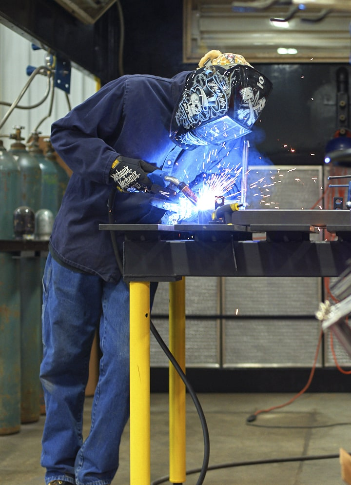 Behind the scenes at Hi5, welding tables