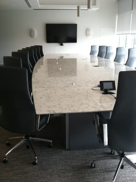 Railway table in conference room