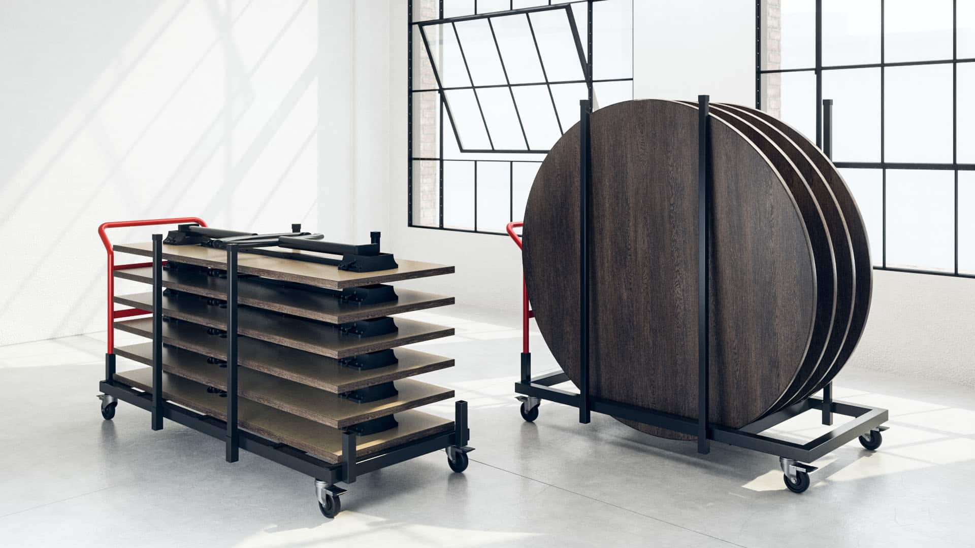 Folding Carts for tables by Hi5